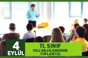11. SINIF veli bilgilendirme  toplantısı